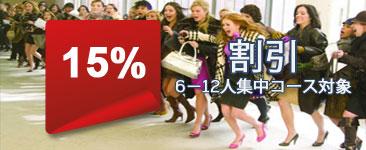 15% 割引